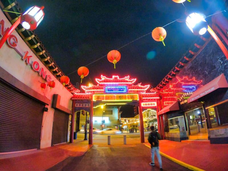 Nette Nachtansichten der Stadt in Kalifornien lizenzfreies stockfoto