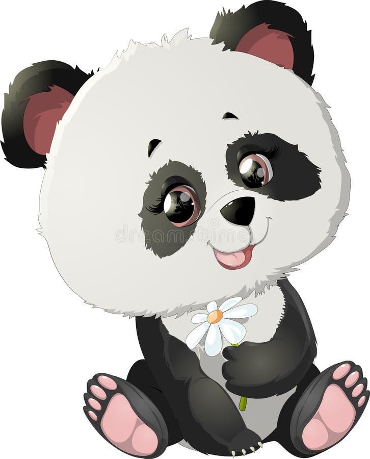 Nette Pandabärnillustrationen stock abbildung