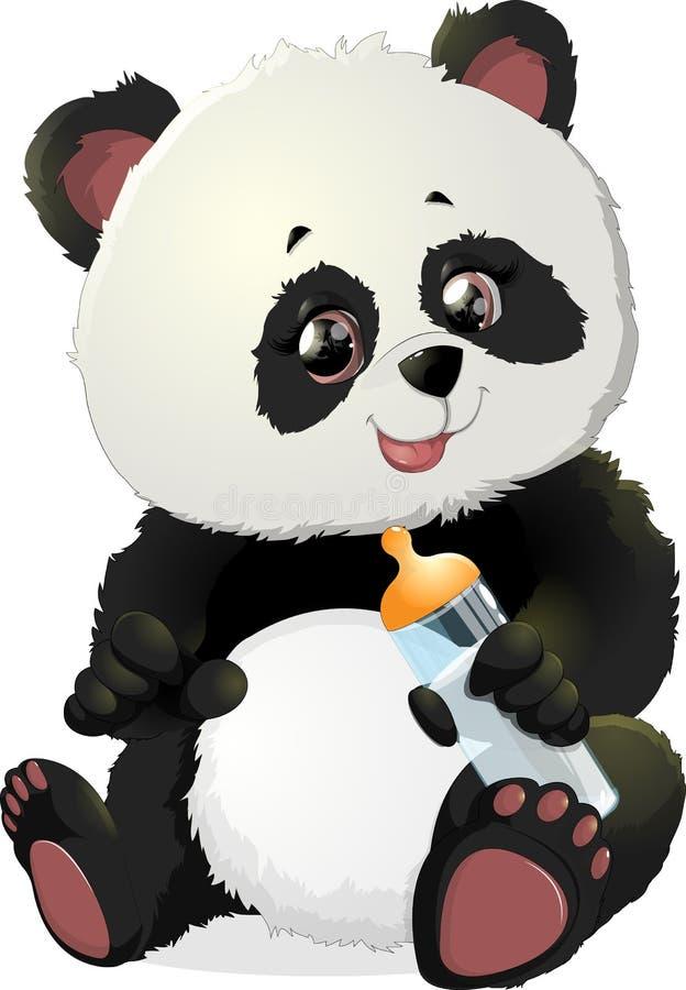 Nette Pandabärnillustrationen lizenzfreie abbildung