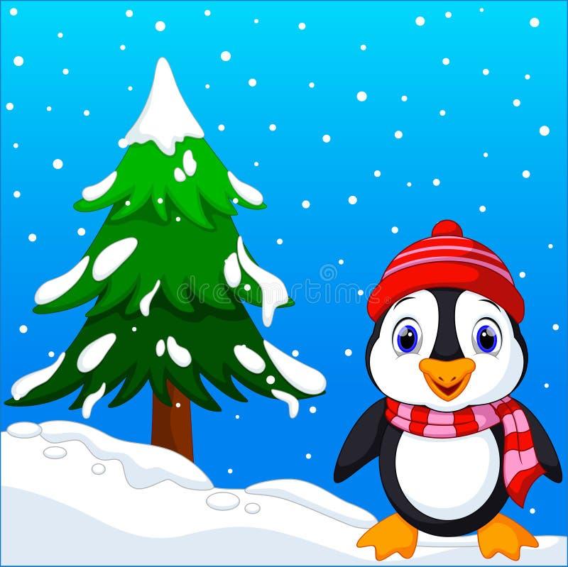 Nette Pinguinkarikatur lizenzfreie abbildung