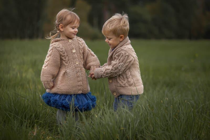 Nette plaing Zwillinge lizenzfreie stockfotos