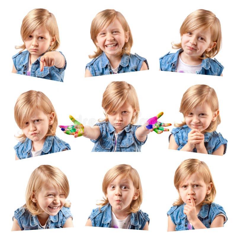 Nette Porträts des kleinen Mädchens lizenzfreie stockfotos