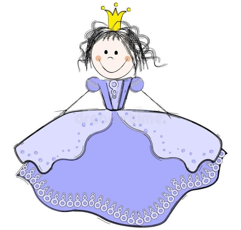 Nette Prinzessin stock abbildung