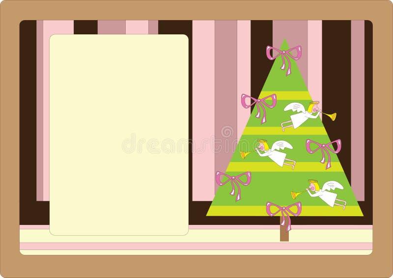 Nette Retro- Weihnachtskarte lizenzfreie abbildung