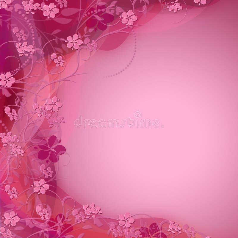 Nette rosafarbene Blumenfarbe schattierter Hintergrund vektor abbildung