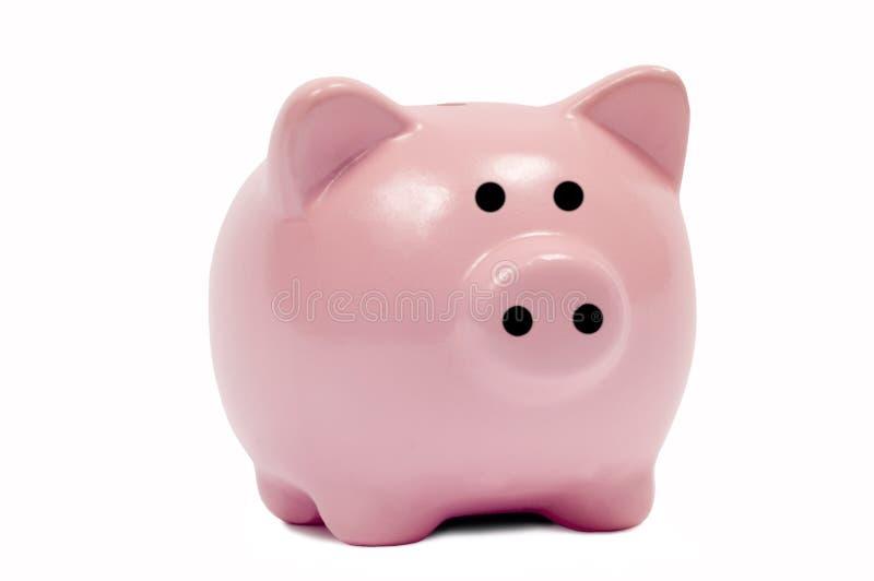 Nette rosafarbene Piggy Querneigung stockfoto