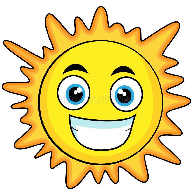 Nette schauende Sonne lizenzfreie abbildung