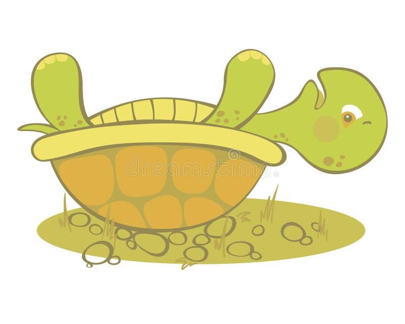 Nette Schildkröte gehaftet lizenzfreie abbildung