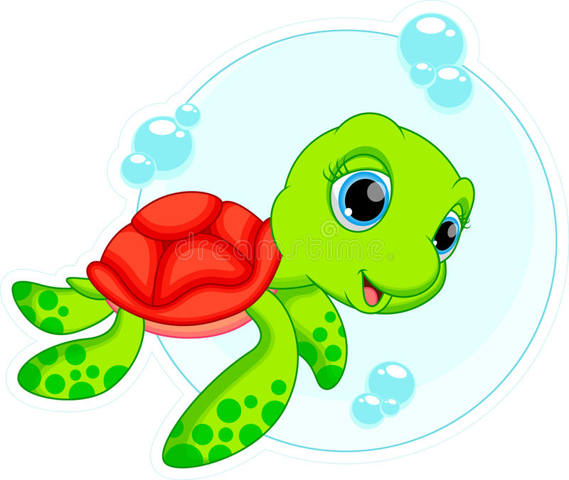 Nette Schildkrötenkarikatur stock abbildung