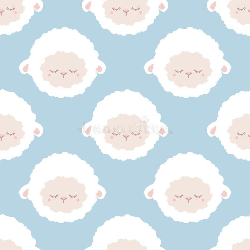 Nette schläfrige Schafe lizenzfreie abbildung