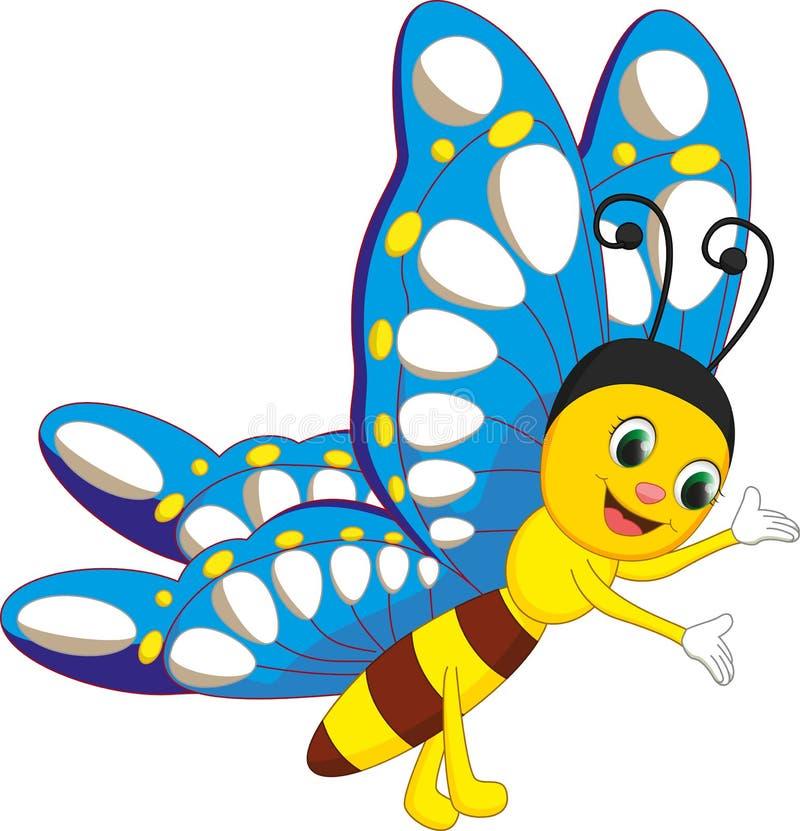 Nette Schmetterlingskarikatur vektor abbildung