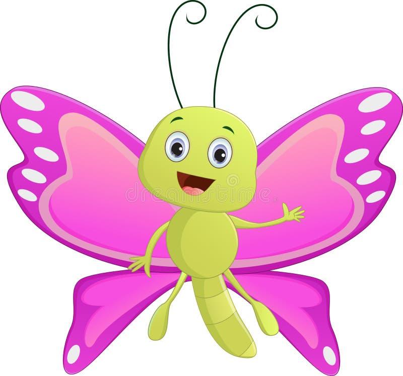 Nette Schmetterlingskarikatur lizenzfreie abbildung