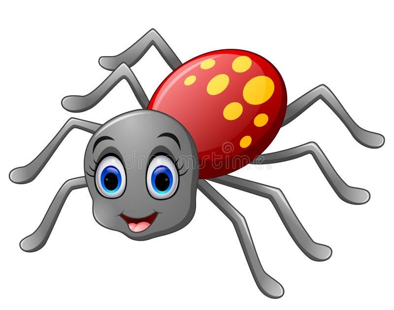 Nette Spinnenkarikatur stock abbildung