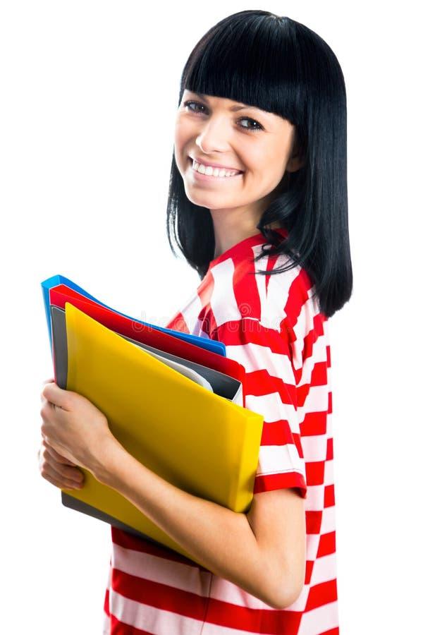 Nette Studentin lizenzfreie stockbilder