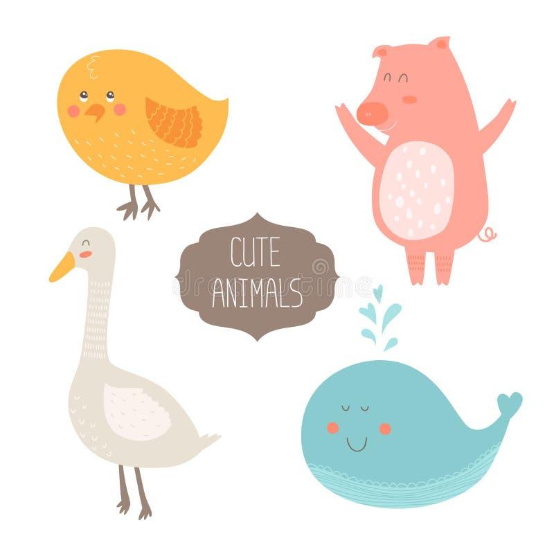 Nette Tier-Ansammlung vektor abbildung