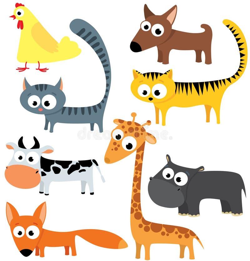 Nette Tiere vektor abbildung
