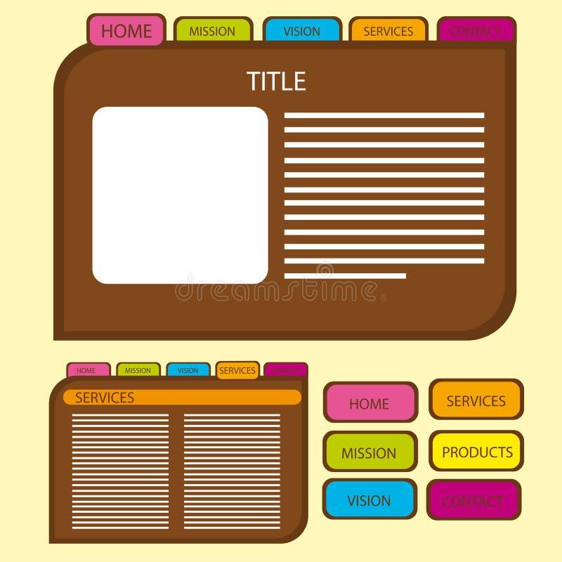 Nette Web site lizenzfreie abbildung