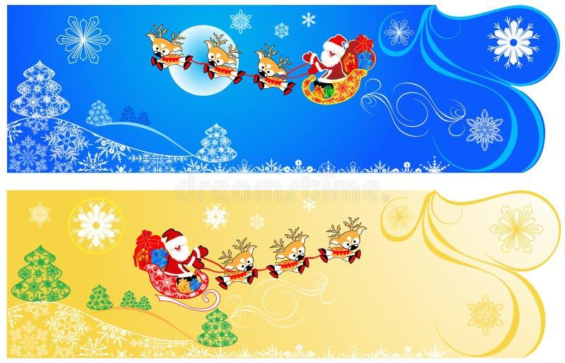 Nette Weihnachtsfahnen. lizenzfreie abbildung