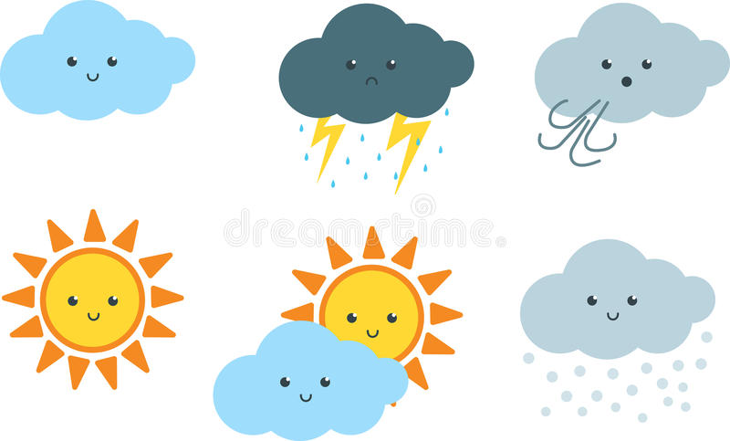 nette wetter karikatur clipart vektor abbildung clip art of the sun and the moon clip art of the sunbathers