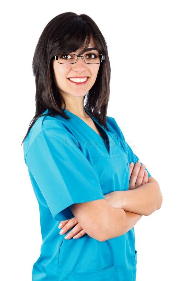 Netter weiblicher Doktor lizenzfreie stockbilder