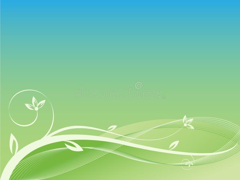 Netter abstrakter Blumenhintergrund vektor abbildung