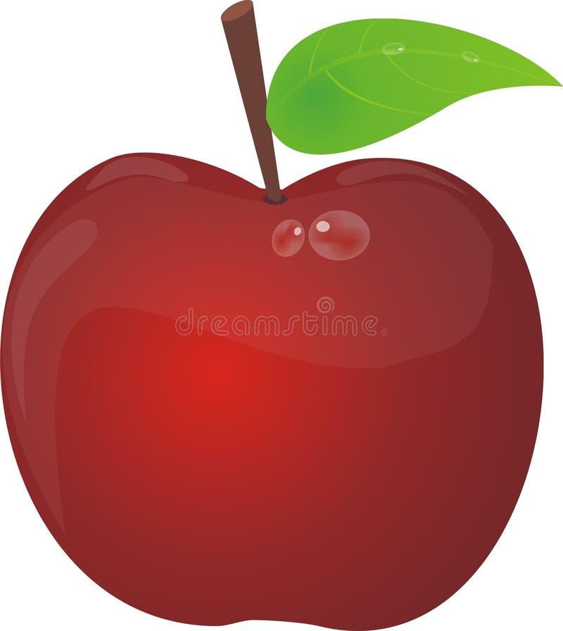 Netter Apfel stockfotos