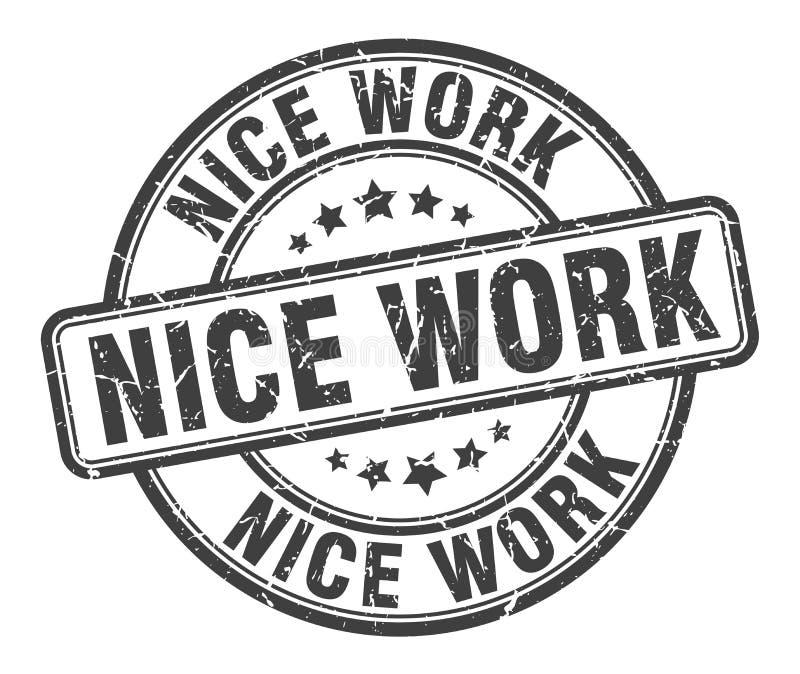 Netter Arbeitsstempel lizenzfreie abbildung