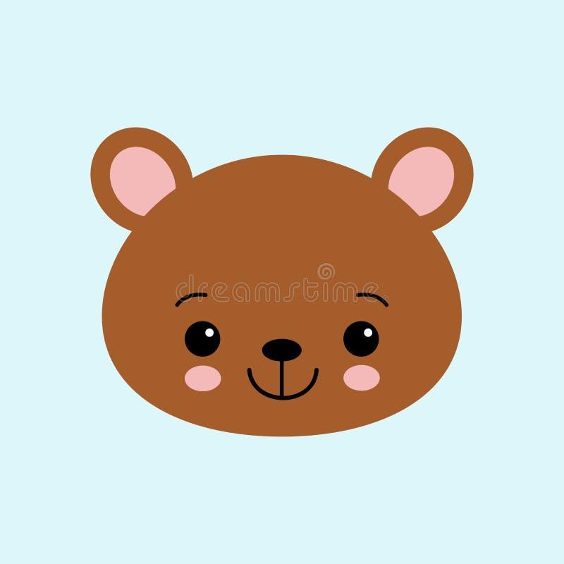 Netter Bär Lustiges Tier Wenig Bär in der Karikaturart Auch im corel abgehobenen Betrag lizenzfreie abbildung