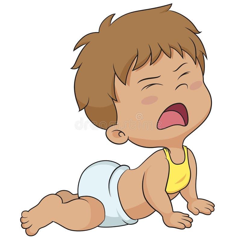 Netter Babyschrei lizenzfreie abbildung