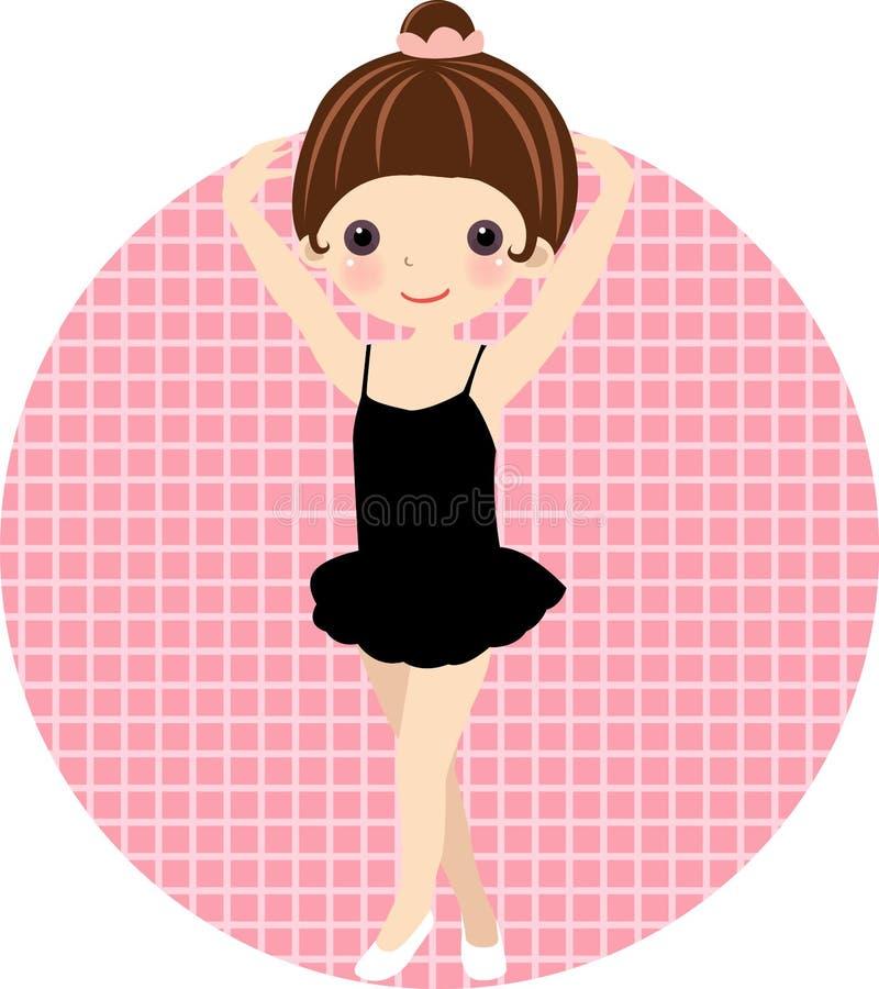 Netter Balletttänzer, Mädchen lizenzfreie abbildung