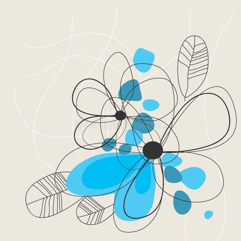 Netter blauer Blumenhintergrund stock abbildung