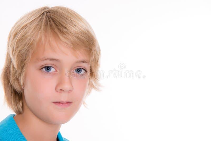 Netter blonder Junge stockbilder