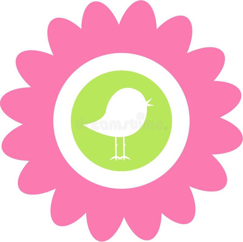 Netter Blumen-Vogel vektor abbildung