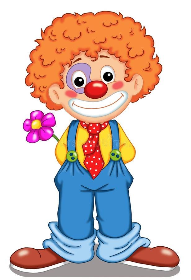 Netter Clown lizenzfreie abbildung