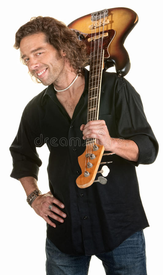 Netter Gitarrist lizenzfreies stockfoto