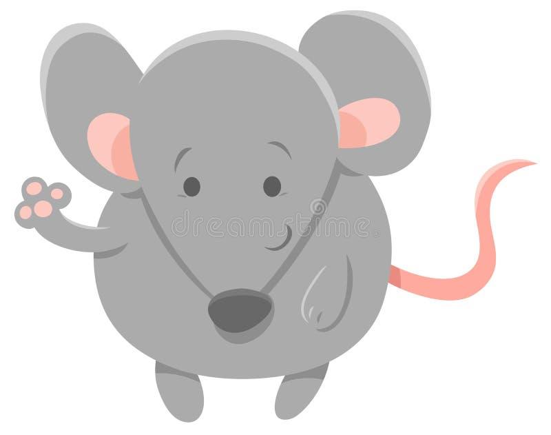Netter grauer Mäusetiercharakter lizenzfreie abbildung