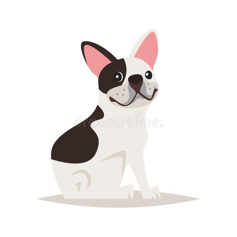 Netter Hund der französischen Bulldogge vektor abbildung