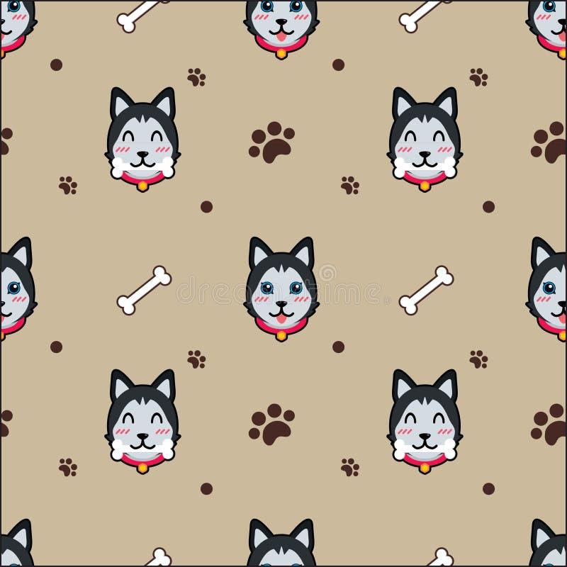 Netter Hundenahtloser Muster-Vektorhintergrund vektor abbildung
