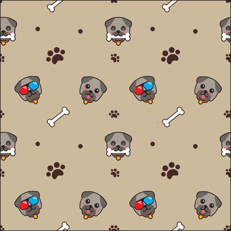 Netter Hundenahtloser Musterhintergrund stock abbildung