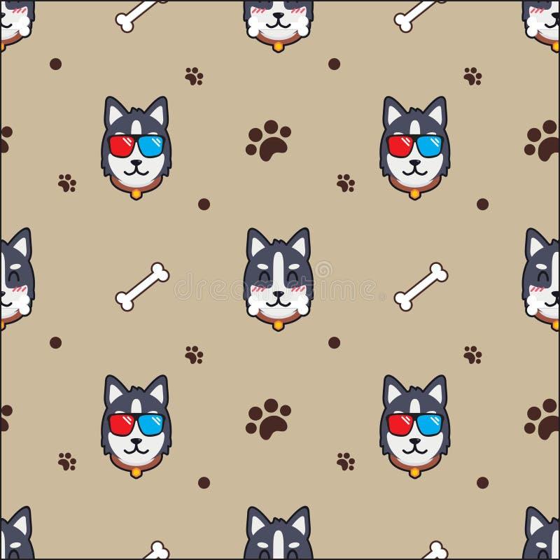 Netter Hundenahtloser Musterhintergrund vektor abbildung