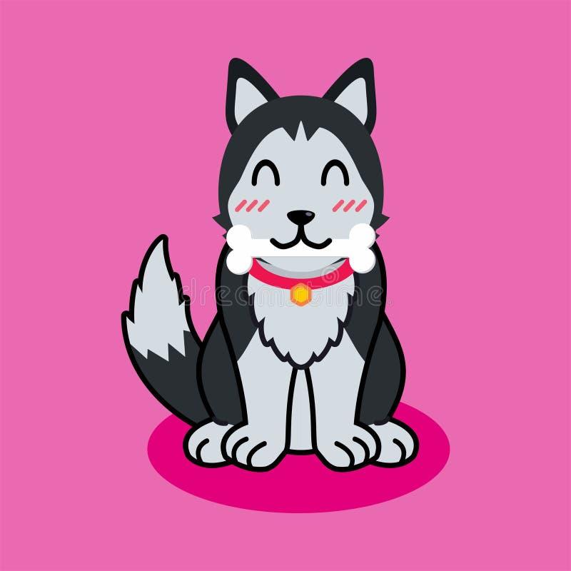 Netter Hundevektor-Illustrationswelpe lokalisiert lizenzfreie abbildung