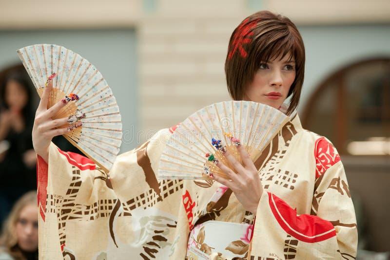 Netter japanischer Kimono lizenzfreies stockbild