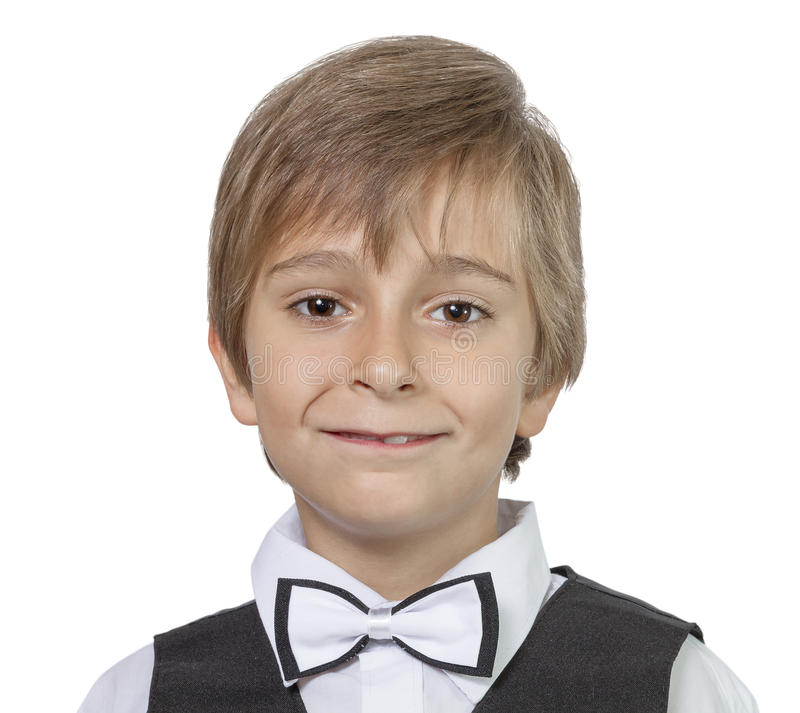Netter jugendlich Junge des emotionalen Porträts stockfotografie