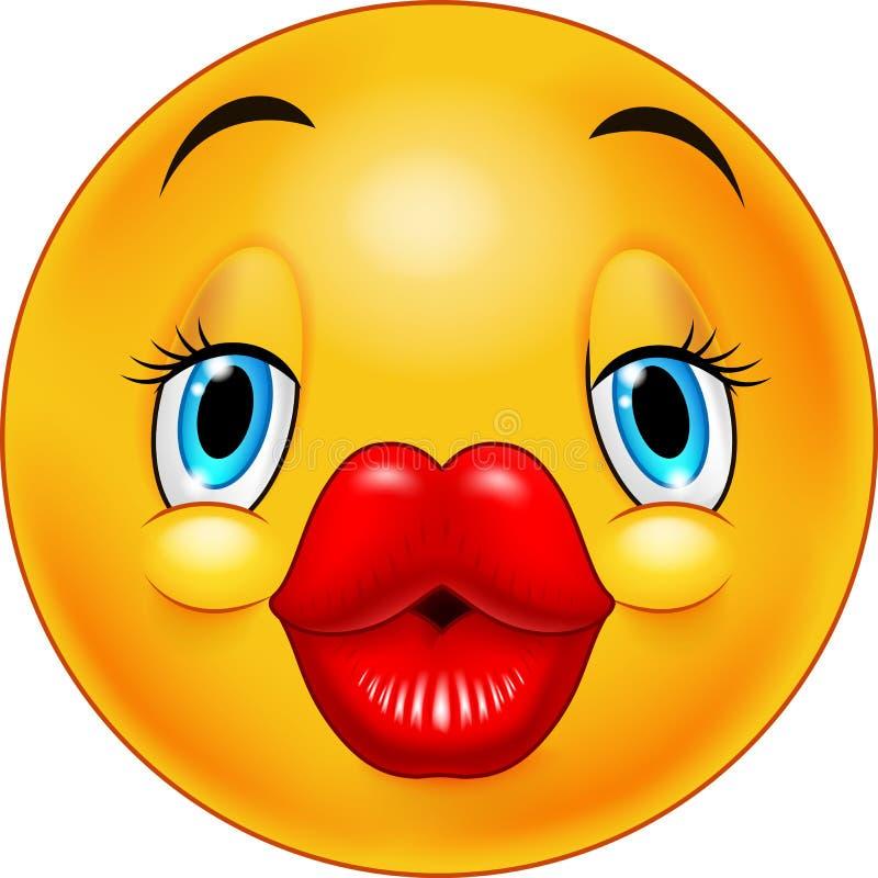 Netter küssender Emoticon vektor abbildung