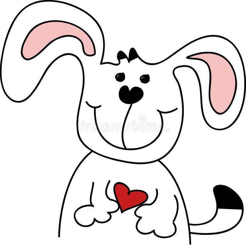 Netter Karikatur-Hund vektor abbildung