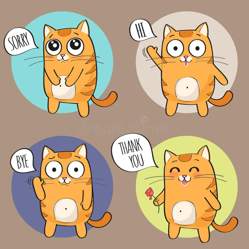 Netter Katzencharakter stock abbildung