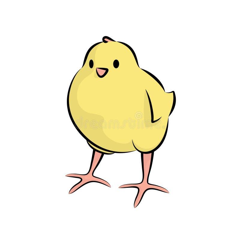 Netter kleiner Chick Line Art lizenzfreie abbildung