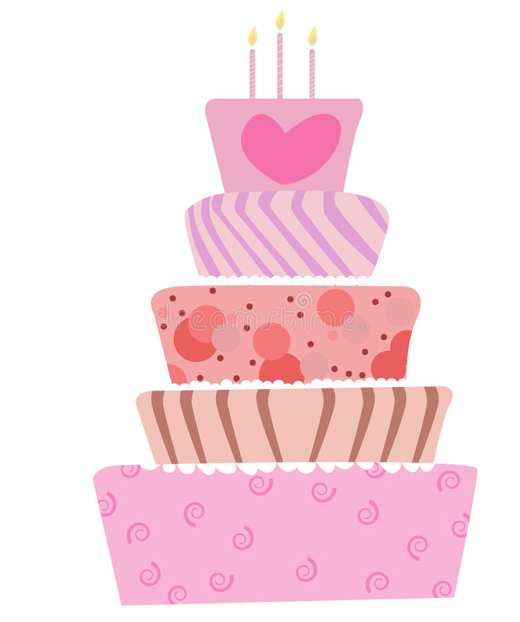 Netter Kuchen vektor abbildung
