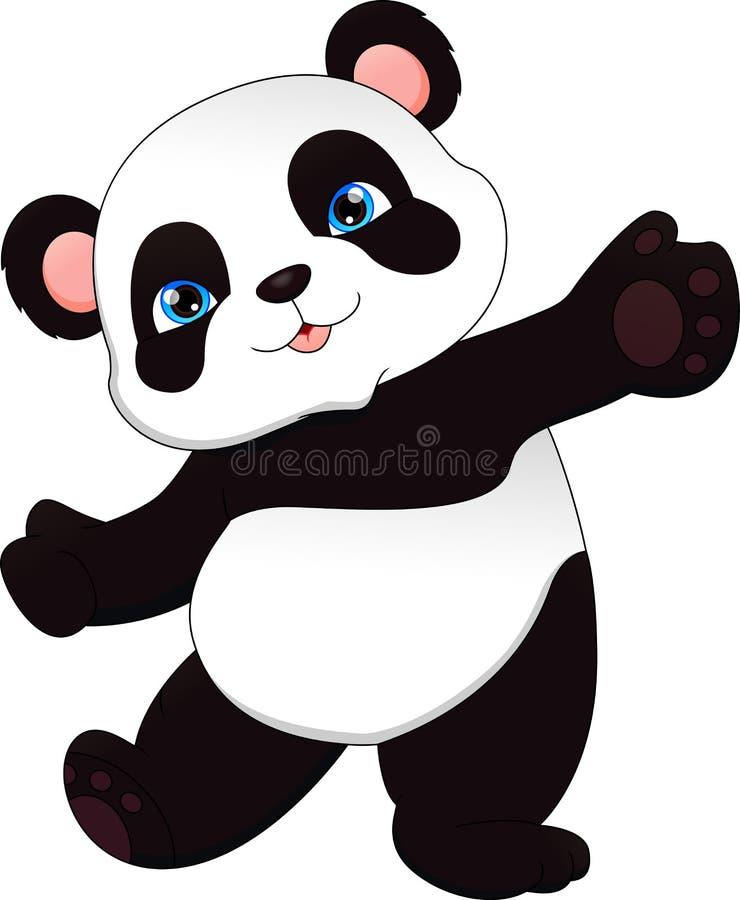 Netter lustiger Babypanda stock abbildung