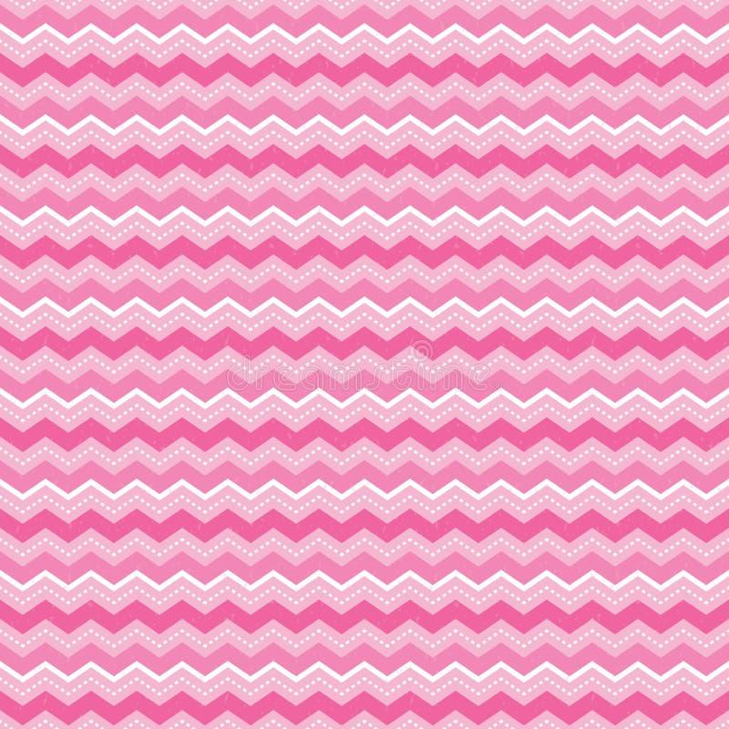 Netter nahtloser Hintergrundsparren streift Rosa und Weiß stock abbildung